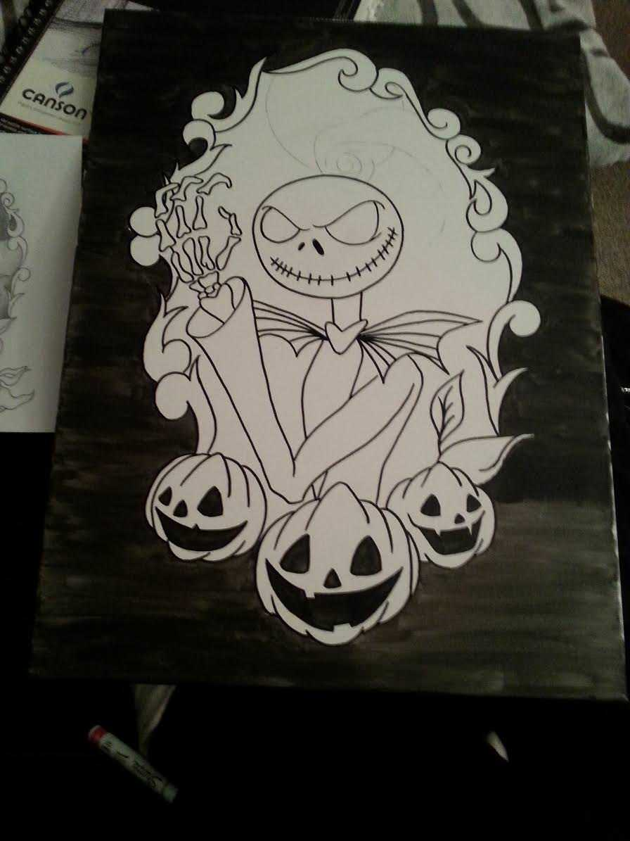 Nightmare Before Christmas Canvas Background
