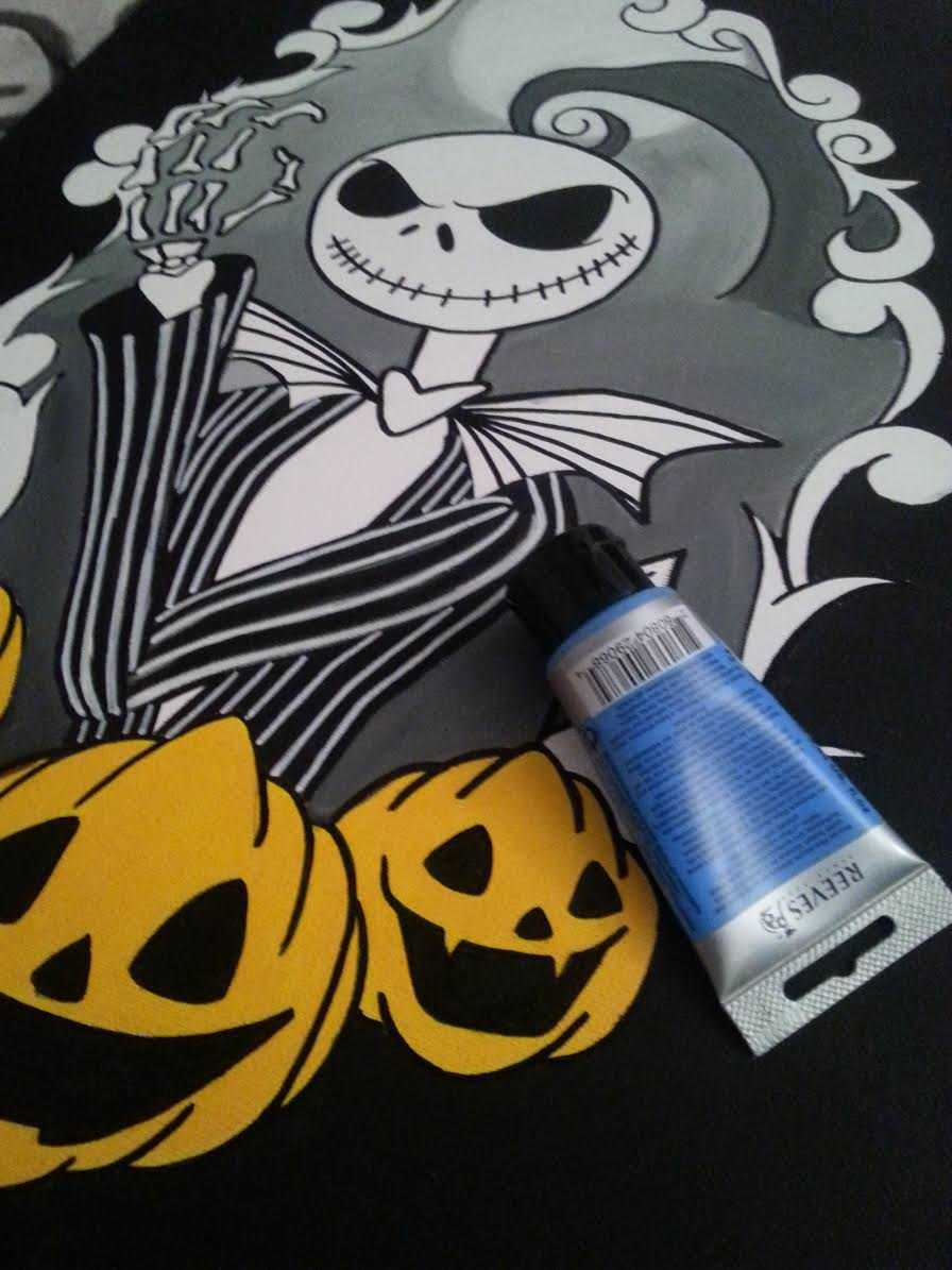 Nightmare Before Christmas Canvas Color Matched