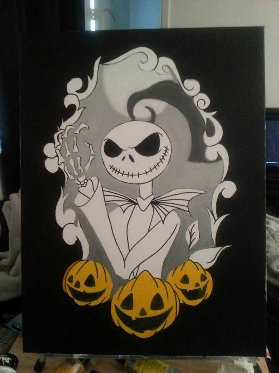 Nightmare Before Christmas Canvas Interior