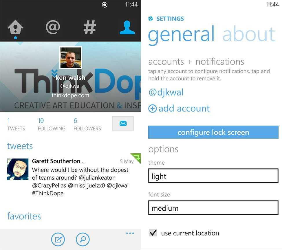 Twitter on Windows Phone